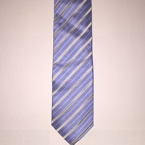 Kenneth Cole Reaction blue & silver striped tie